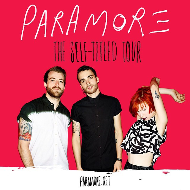 paramore self titled tour poster - photo #19
