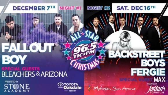 96.5 TIC All Star Christmas: Backstreet Boys, Fergie & Max at Mohegan Sun Arena