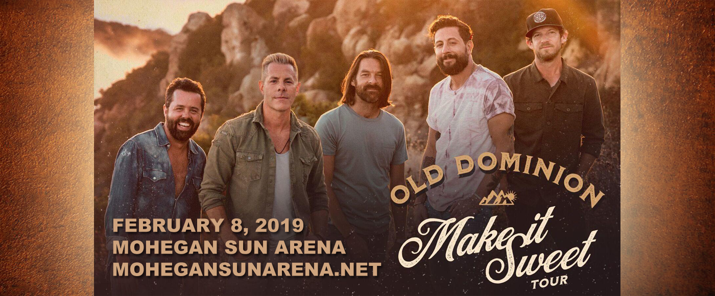 Old Dominion, Jordan Davis & Mitchell Tenpenny at Mohegan Sun Arena